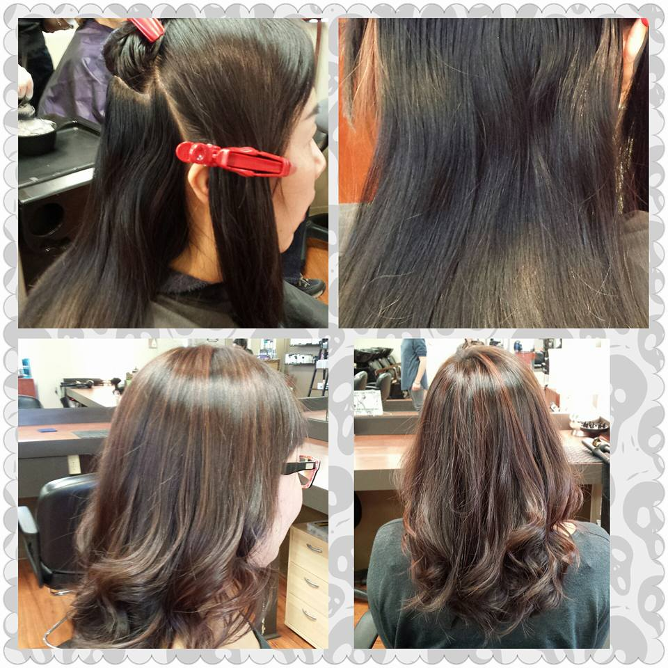 salon colour repair highlights