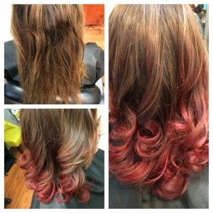 tab red ombre